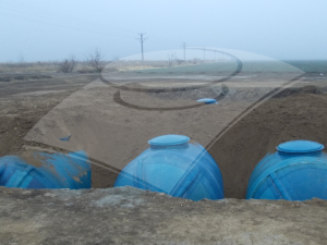 Rezervoare înseriate pentru rezerva de apă şi incendiu 300 mc