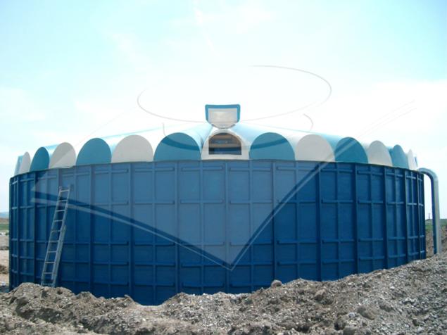 Rezervor modular cilindric pentru levigat 700 mc